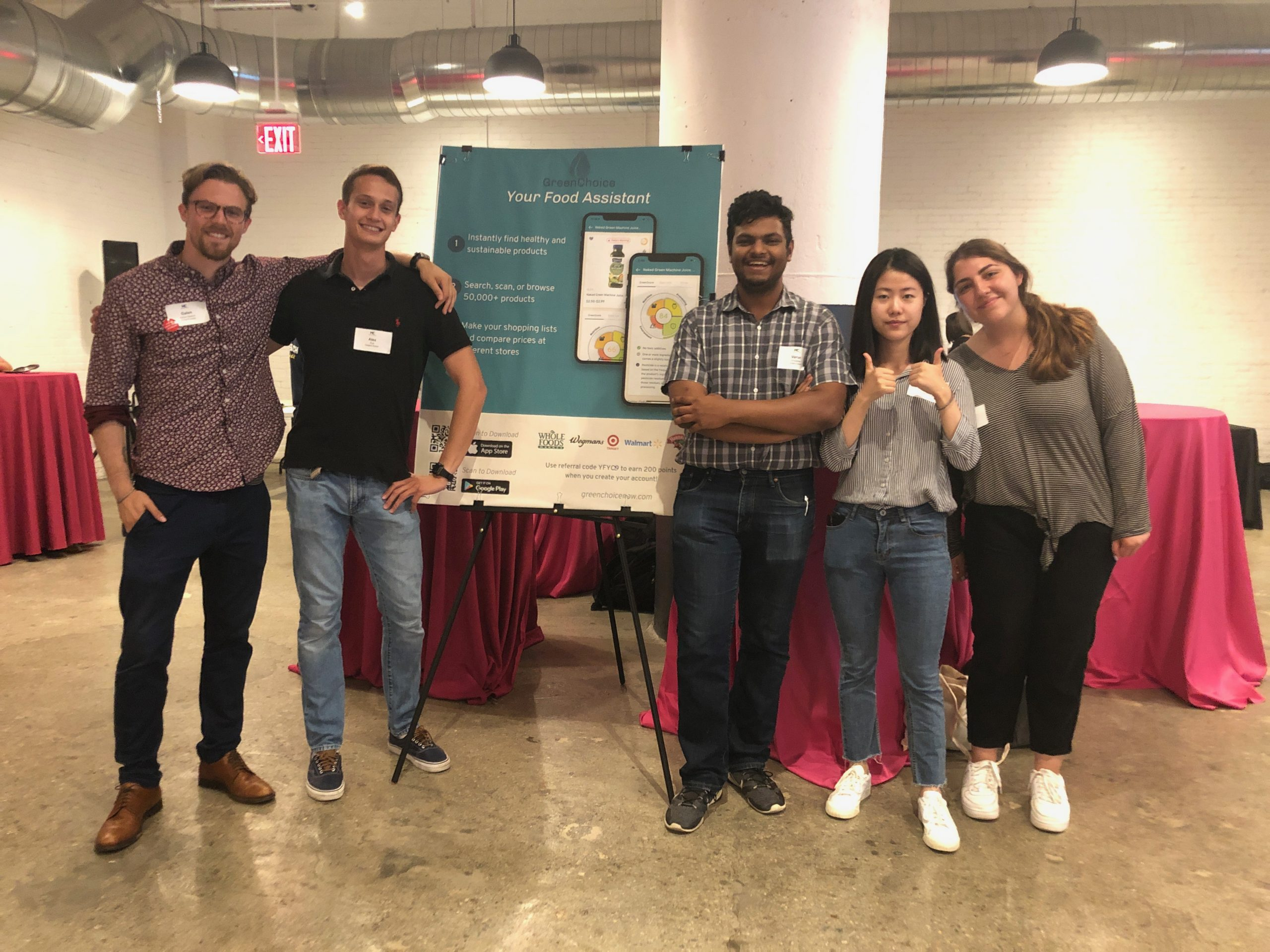MassChallenge Startup Showcase: GreenChoice Demos to over 1,000 attendees!
