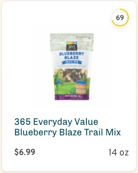 365 Everyday Value Blueberry Blaze Trail Mix Nutrition and Ingredients