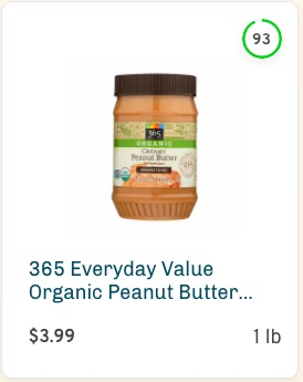 365 Everyday Value Organic Peanut Butter Spread Nutrition and Ingredients
