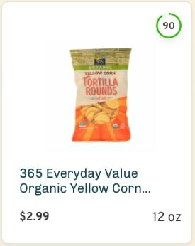 365 Everyday Value Yellow Corn Tortilla Rounds Nutrition and Ingredients