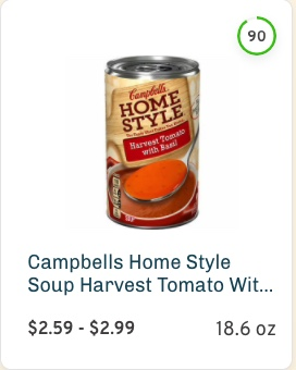 Campbells Home Style Soup Harvest Tomato With Basil Nutrition and Ingredients