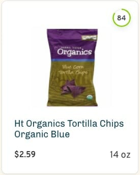 Harris Teeter Blue Corn Tortilla Chips Nutrition and Ingredients