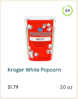 Kroger White Popcorn Nutrition and Ingredients