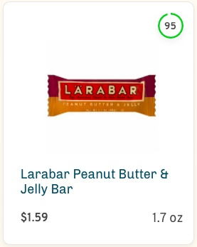 Larabar Peanut Butter & Jelly Bar Nutrition and Ingredients