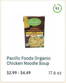 Pacific Foods Organic Chicken Noodle Soup Nutrition and Ingredients