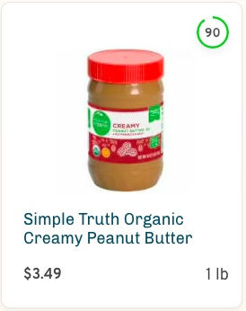Simple Truth Organic Creamy Peanut Butter Nutrition and Ingredients