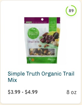 Simple Truth Organic Trail Mix Nutrition and Ingredients