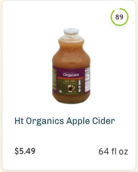 Harris Teeter Organics Apple Cider nutrition and ingredients