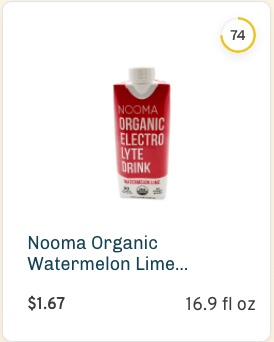 Nooma Organic Watermelon Lime Electrolyte Drink nutrition and ingredients