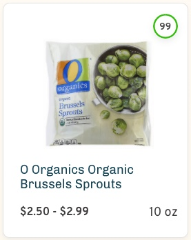 O Organics Organic Brussels Sprouts Nutrition and Ingredients