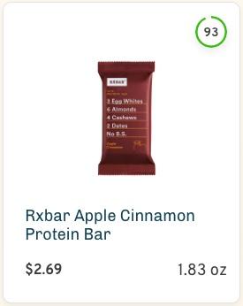 Rxbar Apple Cinnamon Protein Bar nutrition and ingredients