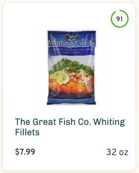 The Great Fish Co. Whiting Fillets nutrition and ingredients