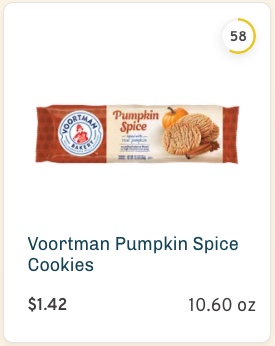 Voortman Pumpkin Spice Cookies nutrition and ingredients