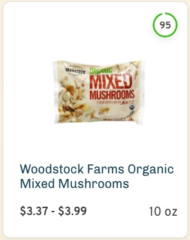 Woodstock Farms Organic Mixed Mushrooms Nutrition and ingredients