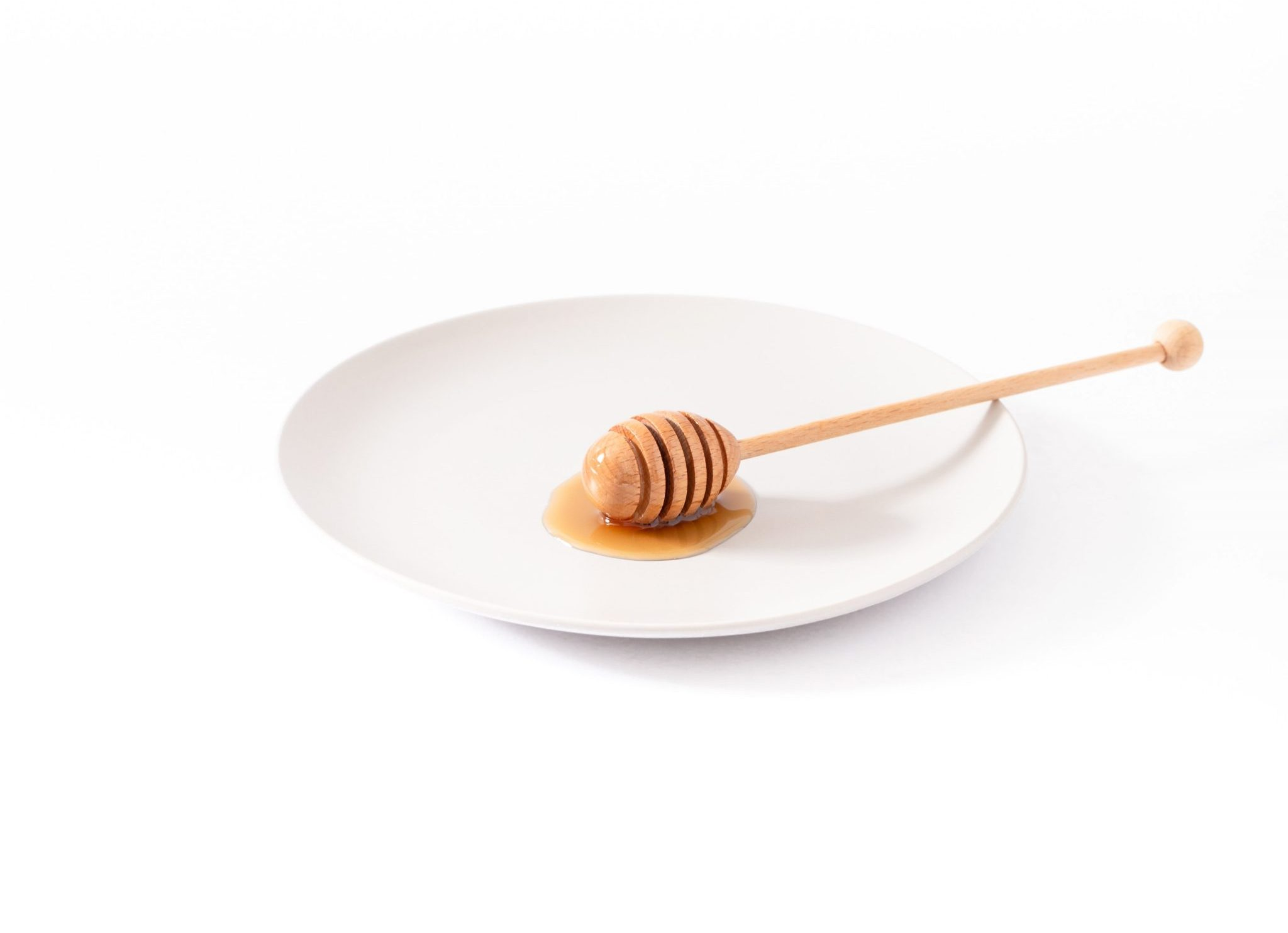 natural sweetener honey on a plate