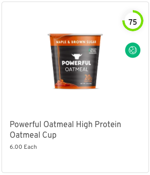 Powerful Oatmeal High Protein Oatmeal Cup Nutrition and Ingredients