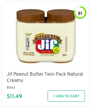 Jif Peanut Butter Twin Pack Natural Creamy