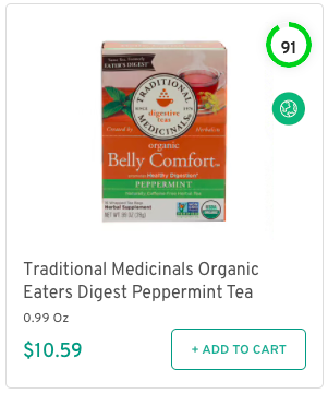 Traditional Medicinals Organic Eaters Digest Peppermint Tea Nutrition and Ingredients