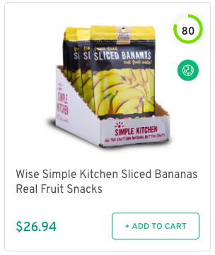 Wise Simple Kitchen Sliced Bananas Real Fruit Snacks Nutrition and Ingredients