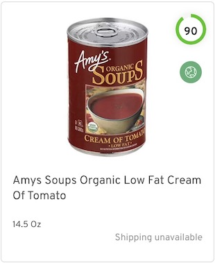Amys Soups Organic Low Fat Cream Of Tomato Nutrition and Ingredients