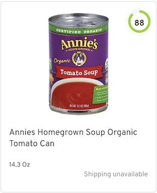 Annies Homegrown Soup Organic Tomato Can Nutrition and Ingredients