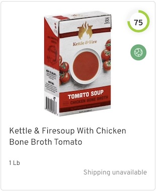 Kettle & Firesoup With Chicken Bone Broth Tomato Nutrition and Ingredients