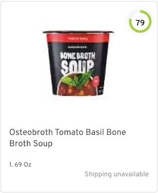 Osteobroth Tomato Basil Bone Broth Soup Nutrition and Ingredients